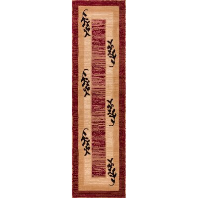 Dewsbury Red/Brown Twigs Area Rug Rug Size: Runner 2 x 73