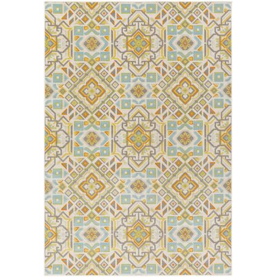 Sandwell Orange/Blue Area Rug Rug Size: Rectangle 53 x 76