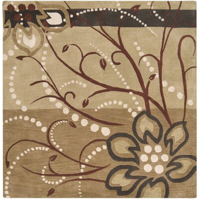 Hayden Hand-Woven Area Rug Rug Size: Square 6
