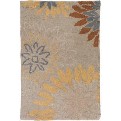 Hayden Oyster Gray Area Rug Rug Size: Rectangle 76 x 96
