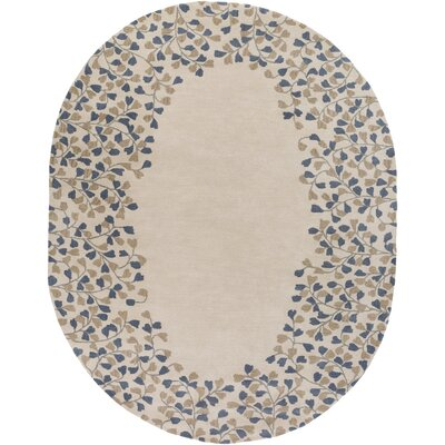Monticello Gray/Beige Area Rug Rug Size: Oval 6 x 9