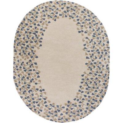 Hayden Gray/Beige Area Rug Rug Size: Oval 8 x 10