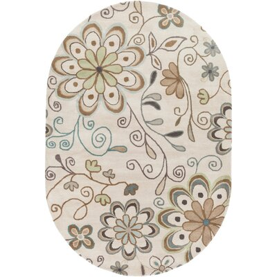 Hayden Beige Floral Area Rug Rug Size: Rectangle 6 x 9