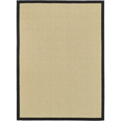 Sumner Hand-Woven Tan/Black Area Rug Rug size: 8 x 10