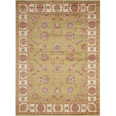 Winthrop Green/Red Area Rug Rug Size: 53 x 73