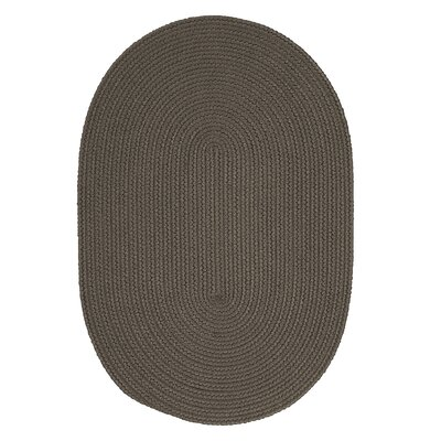 Mcintyre Gray Indoor/Outdoor Area Rug Rug Size: Oval 7 x 9