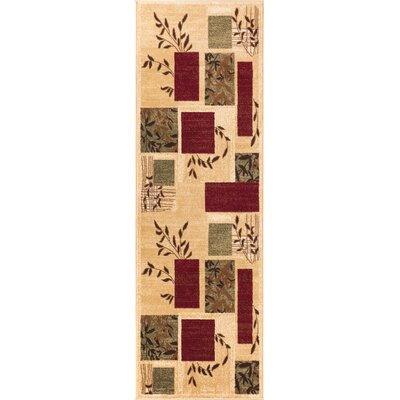 Elsworth Foliage Patch Area Rug Rug Size: Runner 27 x 910