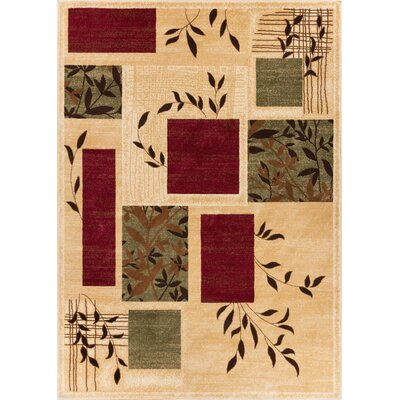 Abbie Foliage Patch Area Rug Rug Size: 53 x 73