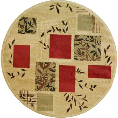 Abbie Foliage Patch Area Rug Rug Size: Round 710