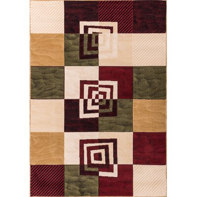 Macfoy Intersecting Boxes Area Rug Rug Size: 5 x 72