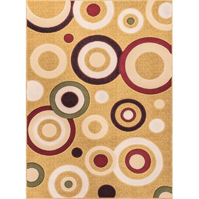 Macfoy Circles and Dots Area Rug Rug Size: 7'10