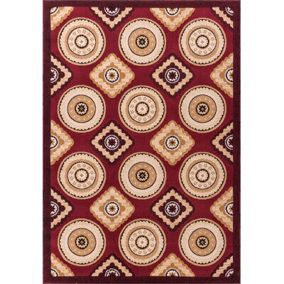 Macfoy Red Area Rug Rug Size: 710 x 910