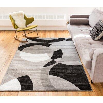 Symone Gray Area Rug Rug Size: 93 x 126