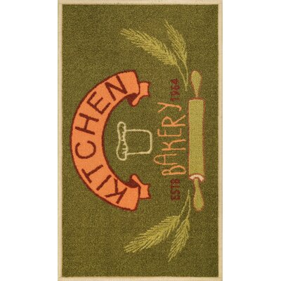 Josephine Kitchen Bakery Green Area Rug Rug Size: Rectangle 18 x 5