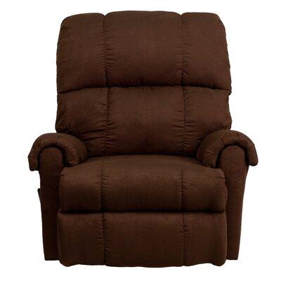 Broadcommon Flatsuede Microfiber Rocker Recliner Upholstery: Chocolate