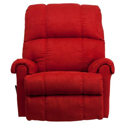 Broadcommon Manual Rocker Recliner Upholstery: Red