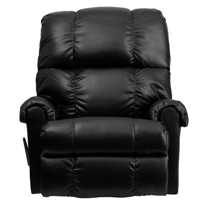 Broadcommon Leather Rocker Recliner Upholstery: Apache Black