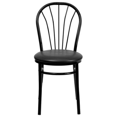 Rodney Fan Back Metal Chair Finish: Black