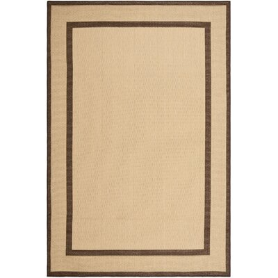 Short Natural/Chocolate Indoor/Outdoor Area Rug Rug Size: 66 x 96
