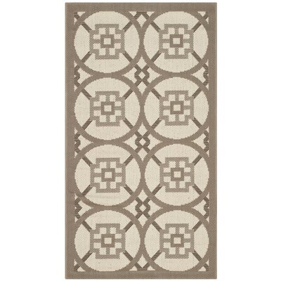 Short Beige Indoor/Outdoor Area Rug Rug Size: Rectangle 2 x 37