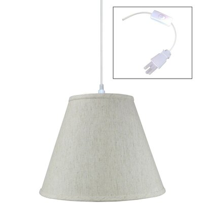 Shyanne 1-Light Mini Pendant Shade Color: Oatmeal, Size: 11 H x 14 W x 7 D