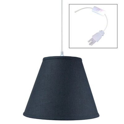 Shyanne 1-Light Mini Pendant Shade Color: Slate Blue, Size: 11 H x 14 W x 7 D