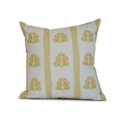 Rotterdam Outdoor Throw Pillow Size: 18 H x 18 W x 3 D, Color: Yellow