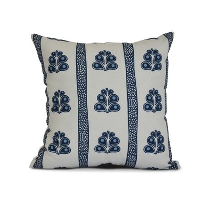 Rotterdam Outdoor Throw Pillow Size: 16 H x 16 W x 3 D, Color: Navy Blue