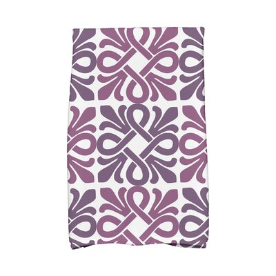 Pattern Hand Towel Color: Purple