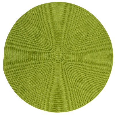 Mcintyre Bright Green Indoor/Outdoor Area Rug Rug Size: Round 4