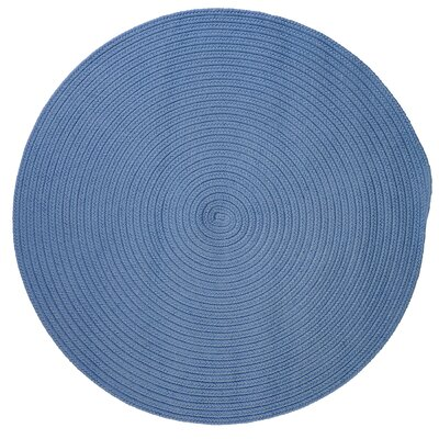 Mcintyre Blue Ice Outdoor Area Rug Rug Size: Round 4