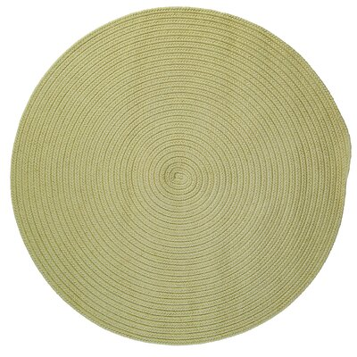 Mcintyre Celery Outdoor Area Rug Rug Size: Round 12'