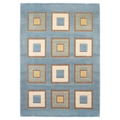 Dwyer Blue Area Rug Rug Size: 52 x 76