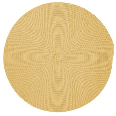 Rainsburg Pale Banana Outdoor Area Rug Rug Size: Round 4