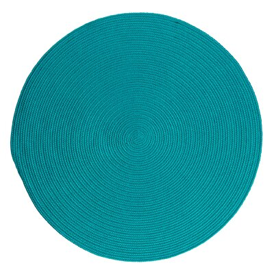Mcintyre Turquoise Outdoor Area Rug Rug Size: Round 8