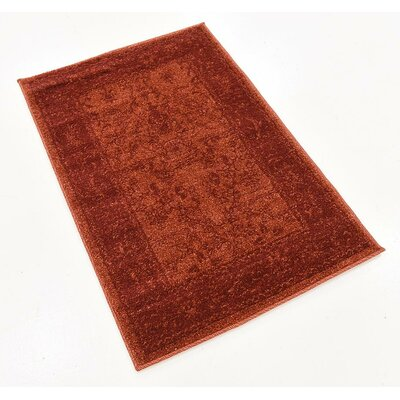 Grover Rust Red Area Rug Rug Size: 22 x 3