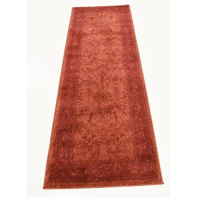Grover Rust Red Area Rug Rug Size: Runner 22 x 6