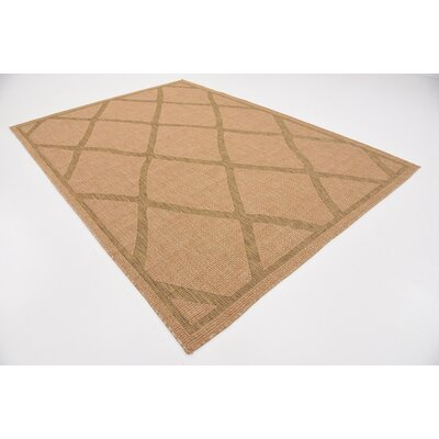 Maywood Light Brown Outdoor Area Rug Rug Size: 7 x 10