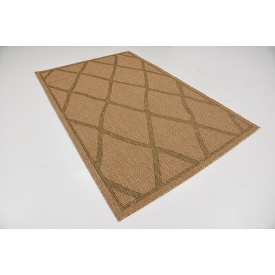 Maywood Light Brown Outdoor Area Rug Rug Size: 5 x 8