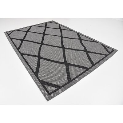 Maryport Gray Outdoor Area Rug Rug Size: 6 x 9