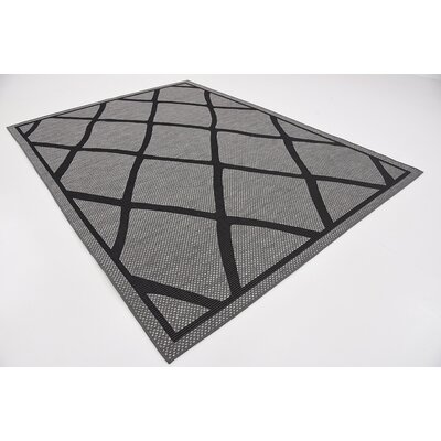 Maryport Gray Outdoor Area Rug Rug Size: 7 x 10