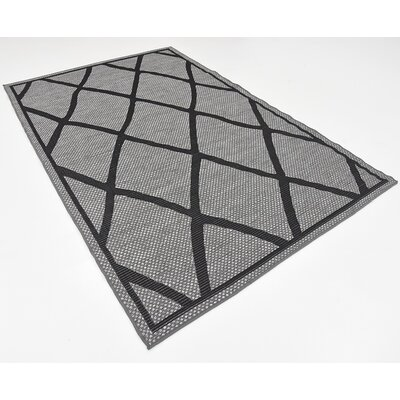 Maryport Gray Outdoor Area Rug Rug Size: 5 x 8