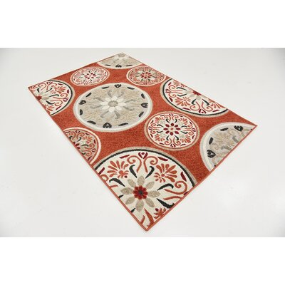 Niagara Terracotta Indoor/Outdoor Area Rug Rug Size: 4 x 6
