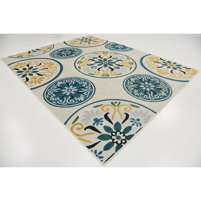 Mackay Cream Indoor/Outdoor Area Rug Rug Size: 8 x 10