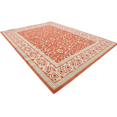McCabe Rust Red Indoor/Outdoor Area Rug Rug Size: 9 x 12