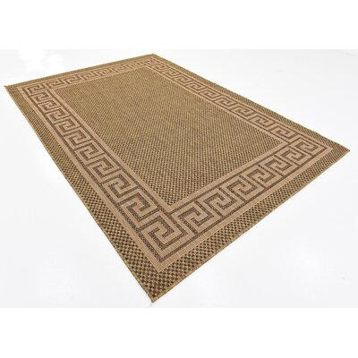Lynnville Brown Outdoor Area Rug Rug Size: 6 x 9
