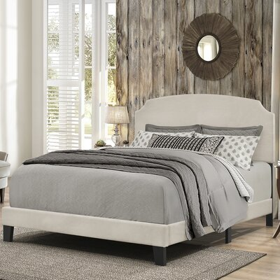 Greensburg Upholstered Panel Bed Size: Queen, Color: Linen