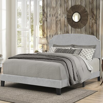 Greensburg Upholstered Panel Bed Size: King, Upholstery: Glacier Gray