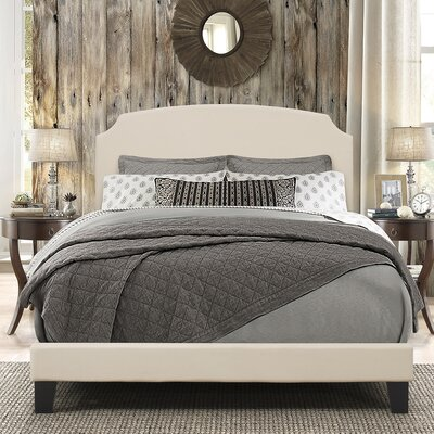Greensburg Upholstered Panel Bed Size: Queen, Upholstery: Linen