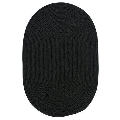 Mcintyre Black Indoor/Outdoor Area Rug Rug Size: Oval Runner 2 x 12
